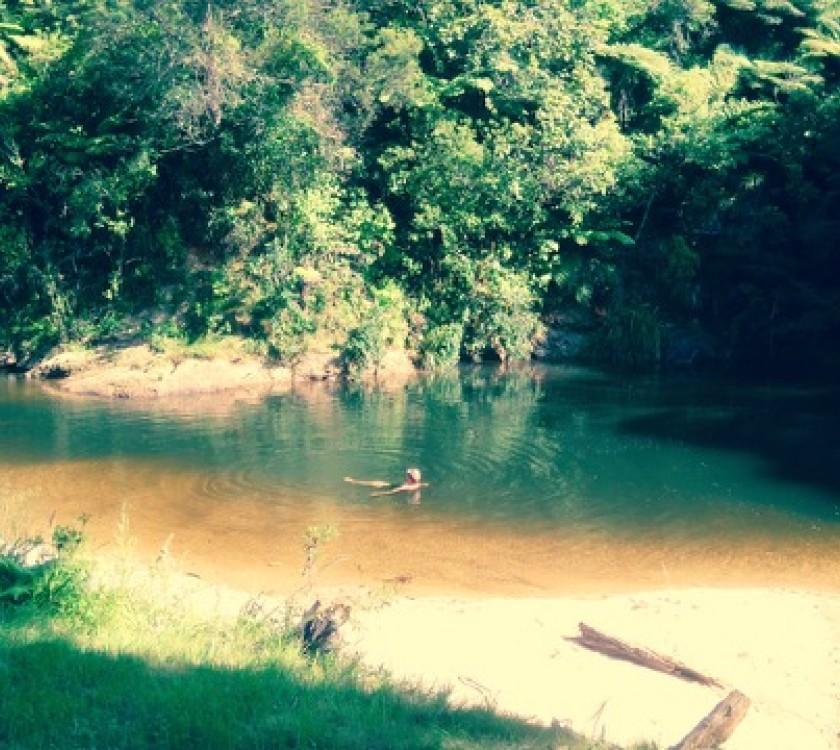Coro Camping river pool