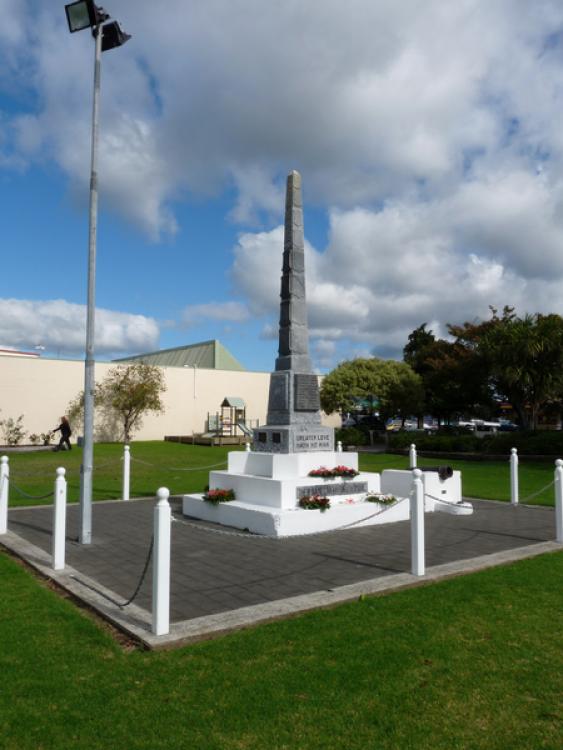 Whitianga War Memorial, Soldiers Memorial Park Whitianga