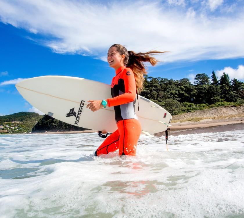 Hot water beach surfing 3