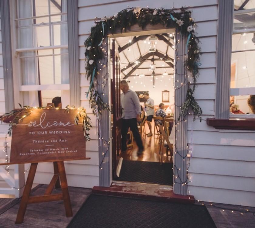 Kuaotunu Hall Beach Wedding Reception