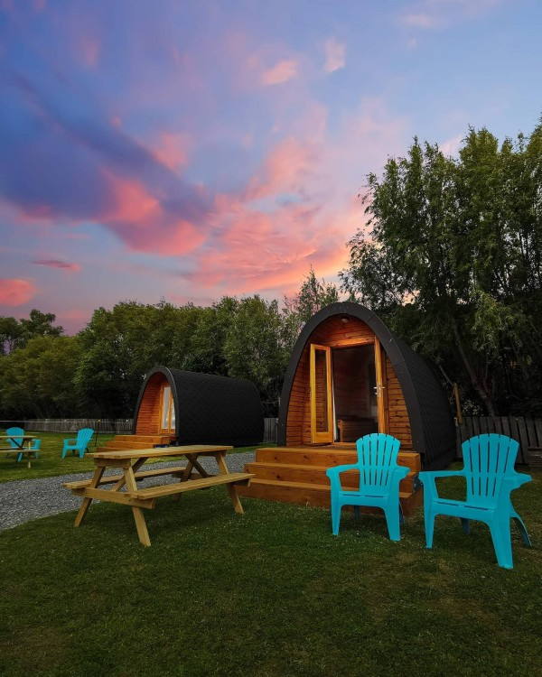 Shelly Beach glamping pods