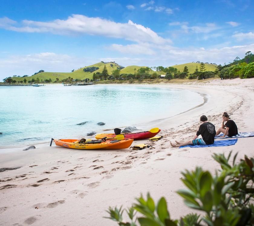 Slipper Island canoes