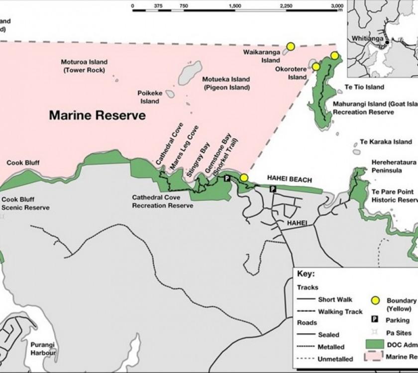 Te Whanganui o Hei Marine Reserve Map